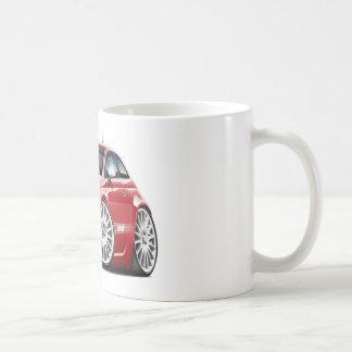 Caneca De Café Carro do vermelho de Fiat 500 Abarth