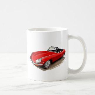 Caneca De Café Carro do vermelho de Jaguar XKE