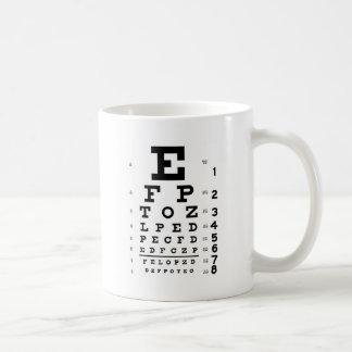 Caneca De Café Carta de olho