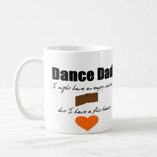 Caneca De Café Carteira vazia do paizinho da dança, coração