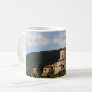 Caneca De Café Casa da paisagem do campo de Toscânia, Italia