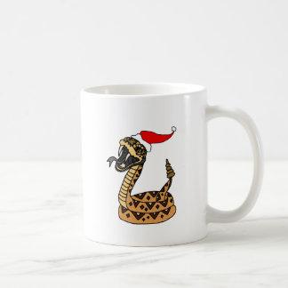 Caneca De Café Cascavel engraçado do Natal