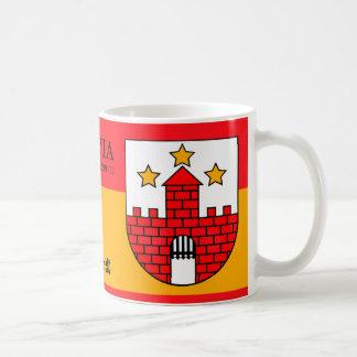 Caneca De Café Castelo medieval de três estrelas de Aizpute,
