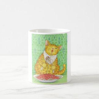 Caneca De Café CAT e espaguetes