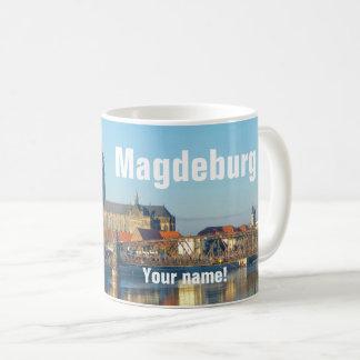 Caneca De Café Catedral de Magdeburgo com rio Elbe 01.3.T (P)