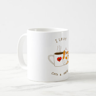 Caneca De Café Cats & Coffee