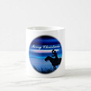 Caneca De Café Cavaleiro do vaqueiro do Feliz Natal