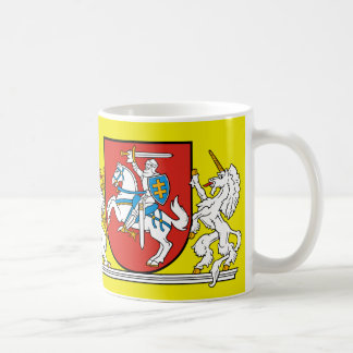 Caneca De Café Cavaleiro medieval com a brasão de Lithuania