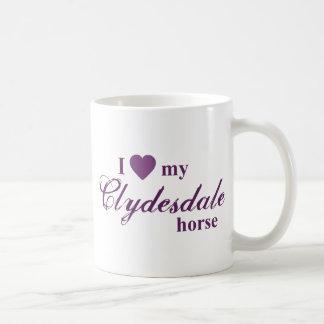 Caneca De Café Cavalo de Clydesdale