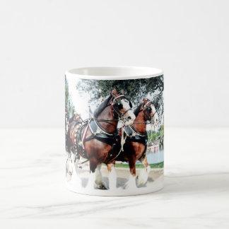 Caneca De Café Cavalos de Clydesdale