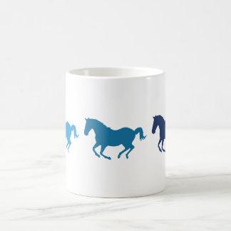 Caneca De Café Cavalos de galope