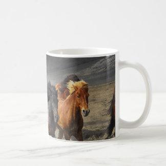 Caneca De Café Cavalos selvagens