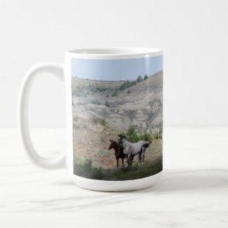 Caneca De Café Cavalos selvagens do parque nacional de Theodore