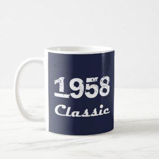 Caneca De Café Celebração do aniversário de 1958 clássicos 60th