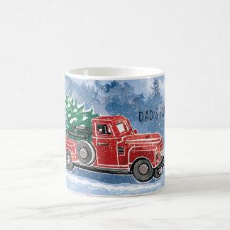 Caneca De Café Cena do caminhão do vintage do Natal