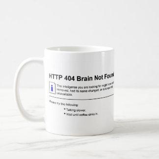 Caneca De Café Cérebro 404 não encontrado