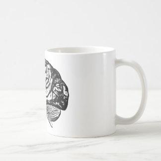 Caneca De Café cérebro humano