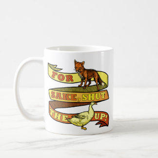 Caneca De Café Chalaça engraçada do animal do pato do Fox