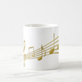 Caneca De Café Chave dourada do violino
