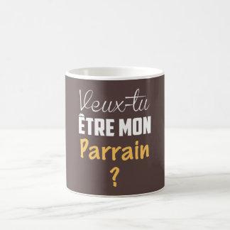 Caneca De Café Chávena MUG Presente quer você ser o meu Padrinho?