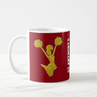 Caneca De Café Cheerleaderes do ouro