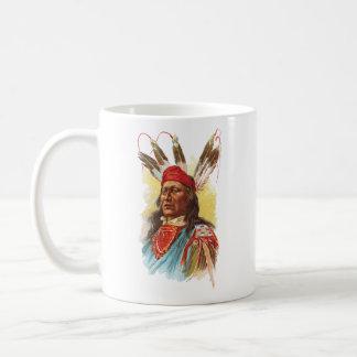 Caneca De Café Chefe de Sioux do Pawnee: Urso de pressa