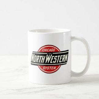 Caneca De Café Chicago & logotipo do noroeste 1 da estrada de