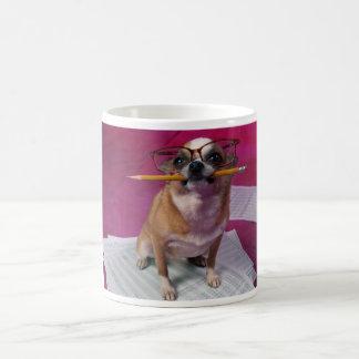 Caneca De Café Chihuahua com lápis