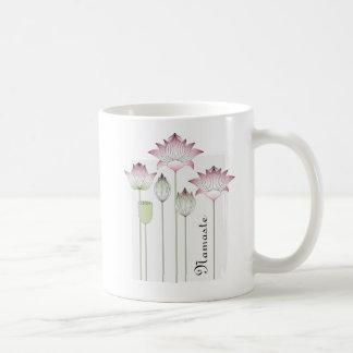 Caneca De Café Chique elegante cor-de-rosa da flor de Lotus