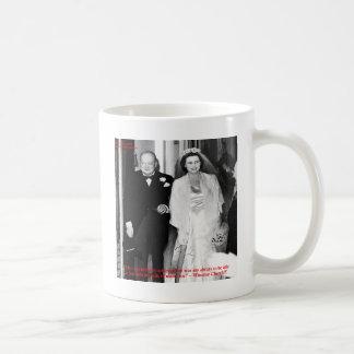Caneca De Café Churchill & citações famosas do casamento