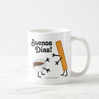 Caneca De Café Churro & chocolate - Buenos Dias!