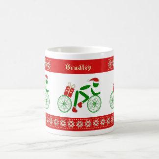 Caneca De Café Ciclistas conhecidos feitos sob encomenda do Natal