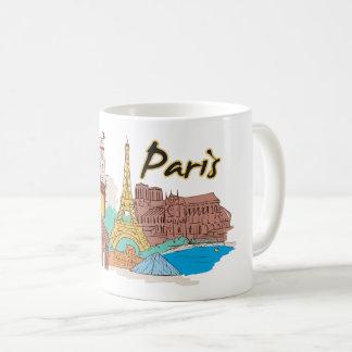 Caneca De Café Cidade famosa de Paris France