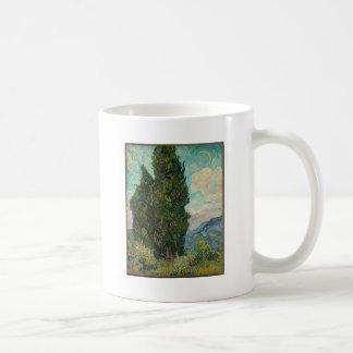 Caneca De Café Ciprestes de Van Gogh