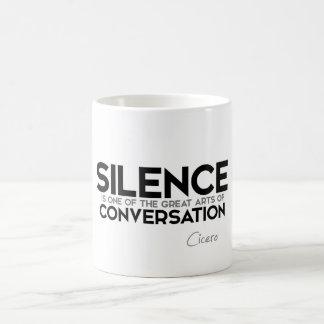 Caneca De Café CITAÇÕES: Cicero - conversação do silêncio
