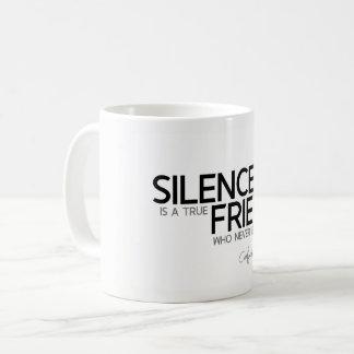Caneca De Café CITAÇÕES: Confucius: O silêncio é um amigo
