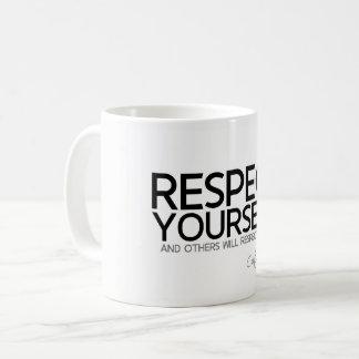 Caneca De Café CITAÇÕES: Confucius: Respeito você mesmo