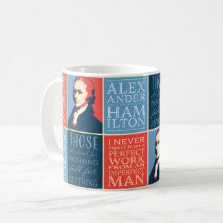 Caneca De Café Citações de Alexander Hamilton