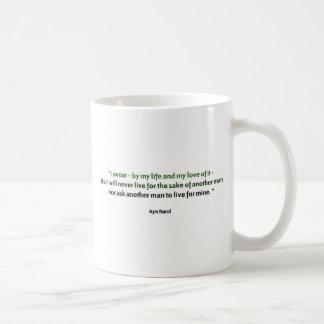 Caneca De Café Citações de Ayn Rand