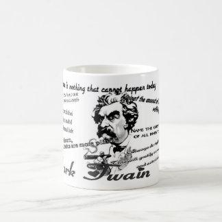 Caneca De Café Citações de Mark Twain
