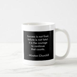 Caneca De Café Citações de Winston Churchill; Sucesso