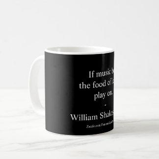 Caneca De Café Citações do amor de William Shakespeare