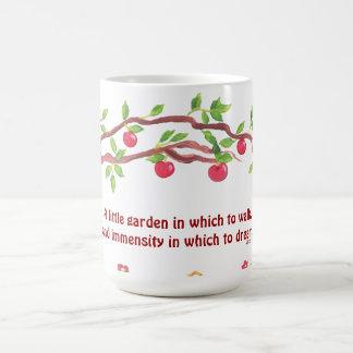 Caneca De Café Citações do jardim de Victor Hugo