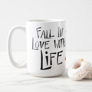 Caneca De Café Citações do sucesso da atitude da felicidade da