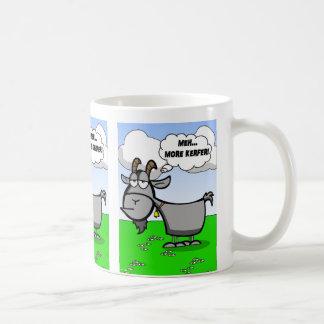 Caneca De Café Citações engraçadas da cabra dos desenhos animados