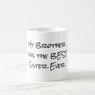Caneca De Café Citações engraçadas do irmão e da irmã