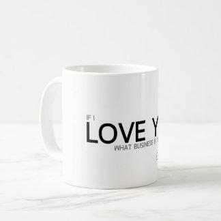 Caneca De Café CITAÇÕES: Goethe: Eu te amo