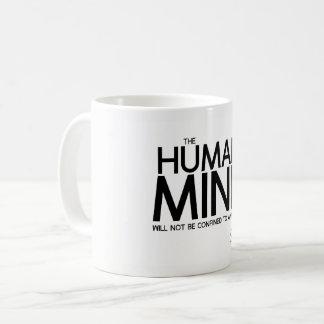 Caneca De Café CITAÇÕES: Goethe: Mente humana
