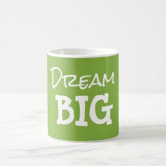 Caneca De Café Citações grandes ideais inspiradores verdes legal