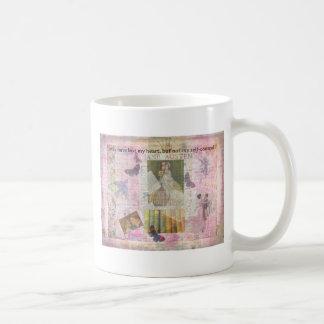 Caneca De Café citações lunáticas do AMOR de Jane Austen de Emma